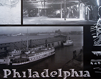 Historic Philadelphia Pier Wall Mural