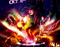 Hocus Pocus Halloween Flyer Template