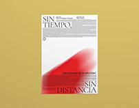 """Poster & book for """"Sin tiempo, sin distancia"""""""