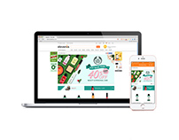 Landing Page for The Body Shop