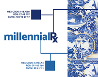 millennialRx: Logo, Motion Graphic, Business Card