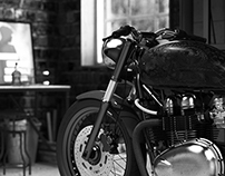 Vintage Motorcycle Garage