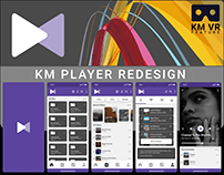 KM PLAYER MOBILE APPLICATION REDESIGN