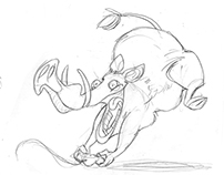 Game Hog Mascot Design
