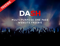 DASH | Multi-Purpose One Page Website Freebie