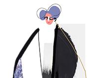 Yohji Yamamoto illustration
