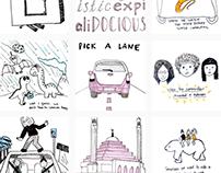 100 days of doodles