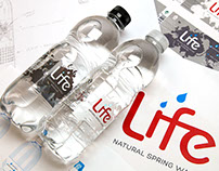 Life Water rebrand and label design