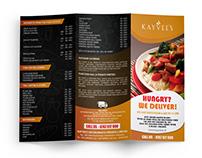 Tri Fold Brochure - Kayvee's Restaurant
