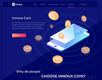 Design for cryptocurrency site Innova
