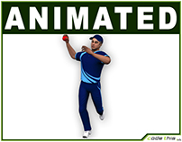 Cricket Bowler Low Poly