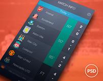 Livescore - Redesign IOS Concept | Free PSD