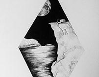 Glamping Ink Illustration