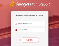UI/UX Work - SpiceJet Crew Flight Report (CFR)
