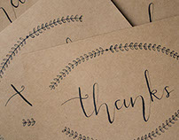 Calligraphy Thanks Cards