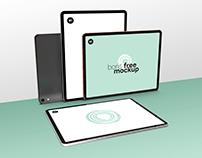 Free PSD Four iPad Pro Mockup