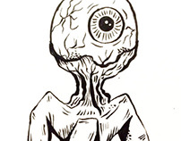Inktober daily drawings