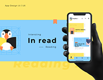 Inread Reading Mobile Application Interface UIUX Design
