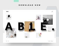 ABLE. Website Template UI