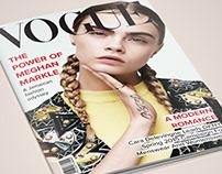 Vogue and Fashion Magazine Cover design