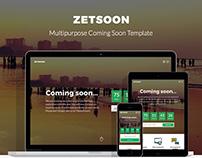 ZetSoon - Multipurpose Coming Soon Template