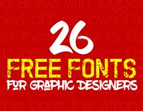 26 Fresh Free Fonts Made for Graphic Designers