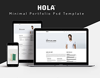 Hola Minimal Portfolio Template