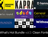 What's Hot Bundle vol.3 – Clean Fonts
