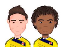 Selección Colombia Ilustración
