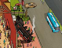 Steam World Park Map