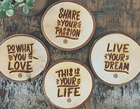 Lettering Coasters