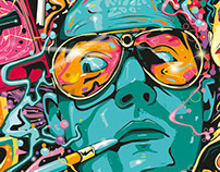 Fear and Loathing in Las Vegas Tribute Poster Artwork