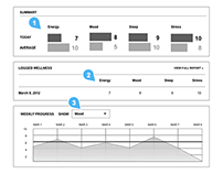 Jenny Craig Online Tools Wireframes/Mockups