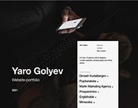 Yaro Golyev. UX/UI Designer Portfolio, 2021