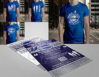 Flyers, Posters and t-shirt design for 5k Running