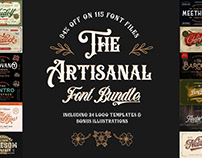 THE ARTISANAL FONT BUNDLE - 94% OFF