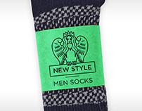 Socks label and logo.