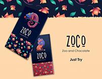 Zoco. Chocolate Design and illustration