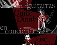 """Cartel """"3 guitarras en concierto"""""""