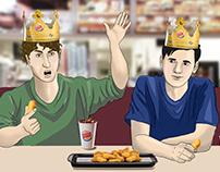 Story-board illustrations for Burger King