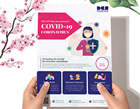 Fight For Corona Virus Flyer Design V02