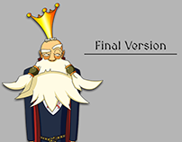 """Concept Art for Tutorial Character """"Manage my Kingdom"""""""