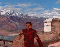 Kid at monastery
