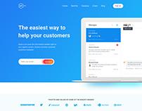 API - Landing Page Design