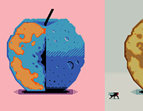 Apple study / Contemporary pixel art.