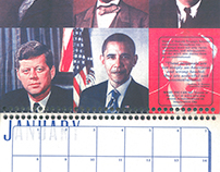 #NotMyPresident 2017 Risograph-Printed Calendar