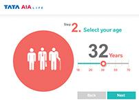 Insurance Calculator for Tata AIA - Design | UI/UX
