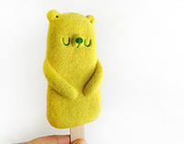 Popsicle Bear - Lemon, Art Toy
