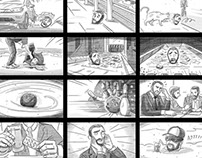 Headache B/W Storyboard