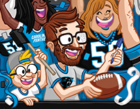 Carolina Panthers Selfie Banner
